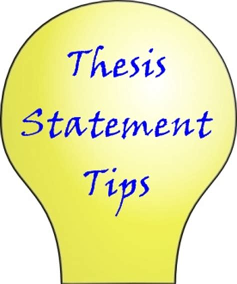 Good essay thesis statements